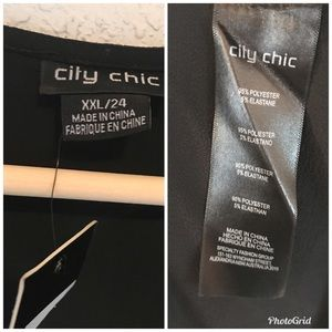 City Chic Dresses - CITY CHIC Lolita Black Maxi Dress Faux Wrap Hi Lo